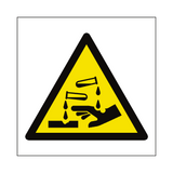 Corrosive Hazard Symbol Sign | PVCSafetySigns.co.uk