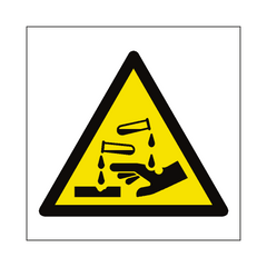 Corrosive Hazard Symbol Sign | PVC Safety Signs | Health and Safety Signs