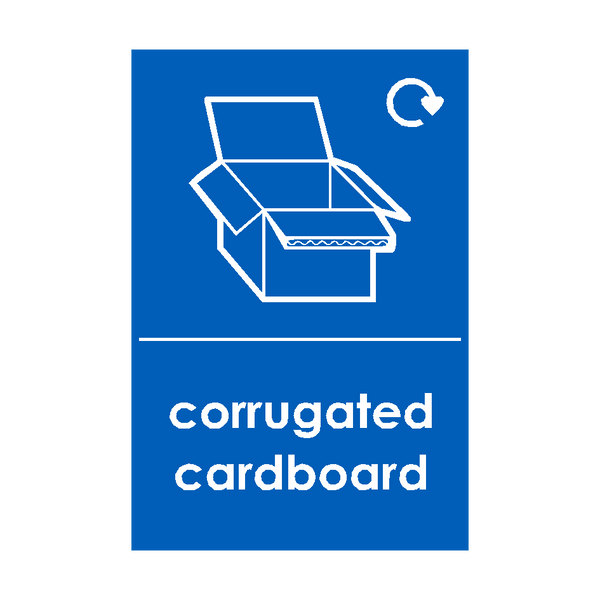 Corrugated Cardboard Waste Recycling Signs | PVC Safety Signs