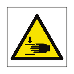 Crushing Hazard Symbol Sign | PVC Safety Signs | Health and Safety Signs