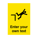 Custom Text Falling Safety Poster | PVCSafetySigns.co.uk