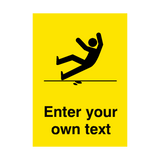 Custom Text Slippery Floor Safety Poster | PVC Safety Signs