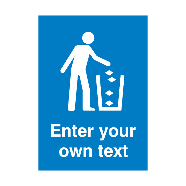 Custom Text Tidy Safety Poster | PVCSafetySigns.co.uk