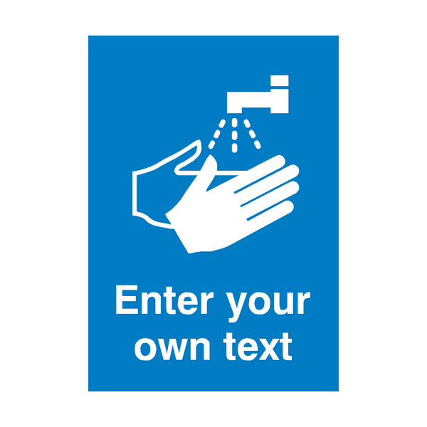 Custom Text Handwash Safety Poster | PVCSafetySigns.co.uk