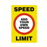 Custom Mph Speed Limit Sign | PVCSafetySigns.co.uk