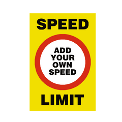 Custom Mph Speed Limit Sign | PVC Safety Signs | Health and Safety Signs