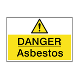 Danger Asbestos Hazard Sign | PVC Safety Signs