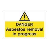 Danger Asbestos Removal Hazard Sign | PVC Safety Signs