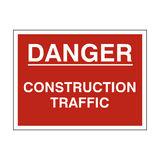 Danger Construction Traffic Sign | PVCSafetySigns.co.uk