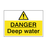 Danger Deep Water Hazard Sign | PVCSafetySigns.co.uk