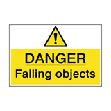 Danger Falling Objects Hazard Sign | PVC Safety Signs
