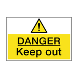 Danger Keep Out Hazard Sign | PVCSafetySigns.co.uk