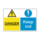 Danger Keep Out Dual Hazard Sign | PVCSafetySigns.co.uk