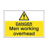 Danger Men Working Overhead Sign | PVC Safety Signs