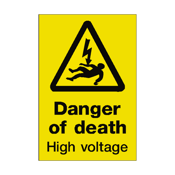 Danger Of Death Sign | PVC Safety Signs