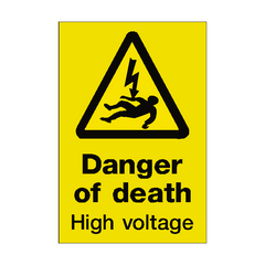 Danger Of Death Sign | PVC Safety Signs | Health and Safety Signs