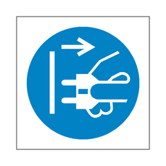 Disconnect Plug Symbol Sign | PVC Safety Signs | Health and Safety Signs