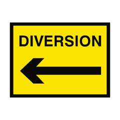 Diversion Arrow Left Traffic Sign | PVC Safety Signs | Health and Safety Signs
