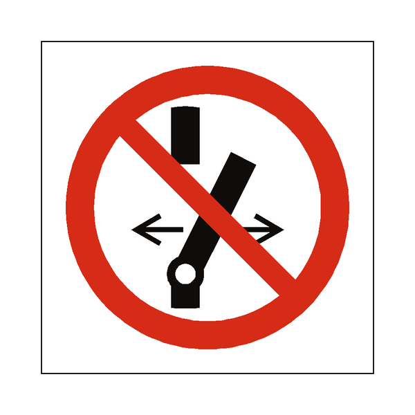 Do Not Alter Switch Symbol Sign | PVC Safety Signs