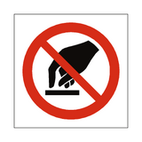 Do Not Touch Symbol Sign | PVCSafetySigns.co.uk