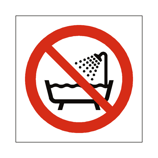 Do Not Use Device Near Water Symbol Sign - PVC Safety Signs