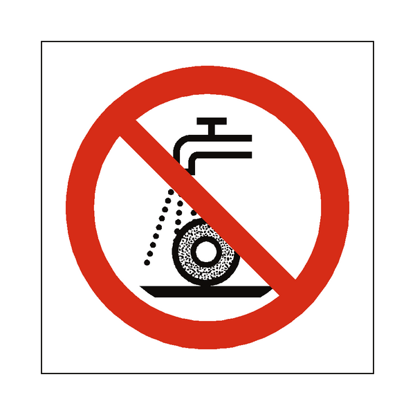 Do Not Use For Wet Grinding Symbol Sign | PVCSafetySigns.co.uk