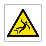 Drop Hazard Symbol Sign | PVCSafetySigns.co.uk