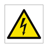 Electrical Hazard Symbol Sign | PVCSafetySigns.co.uk