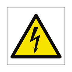 Electrical Hazard Symbol Sign | PVC Safety Signs | Health and Safety Signs