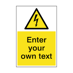 Custom Electrical Safety Sign Portrait | PVC Safety Signs | Health and Safety Signs