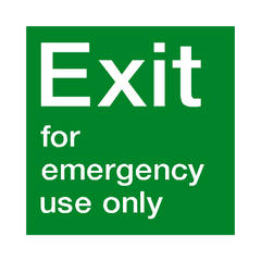 Exit For Emergency Use Sign