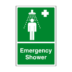 Emergency Shower Sign | PVC Safety Signs | Health and Safety Signs