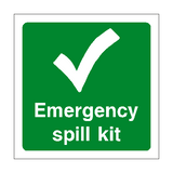 First Aid Spill Kit Sign - PVC Safety Signs