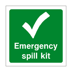 First Aid Spill Kit Sign | PVC Safety Signs | Health and Safety Signs