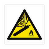 Explosive Material Symbol Sign | PVCSafetySigns.co.uk