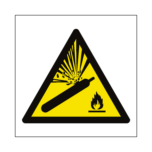 Explosive Material Symbol Sign - PVC Safety Signs