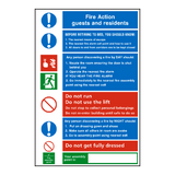 General Fire Action Notice Sign | PVC Safety Signs | Health and Safety Signs