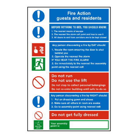 General Fire Action Notice Sign Pvc Safety Signs