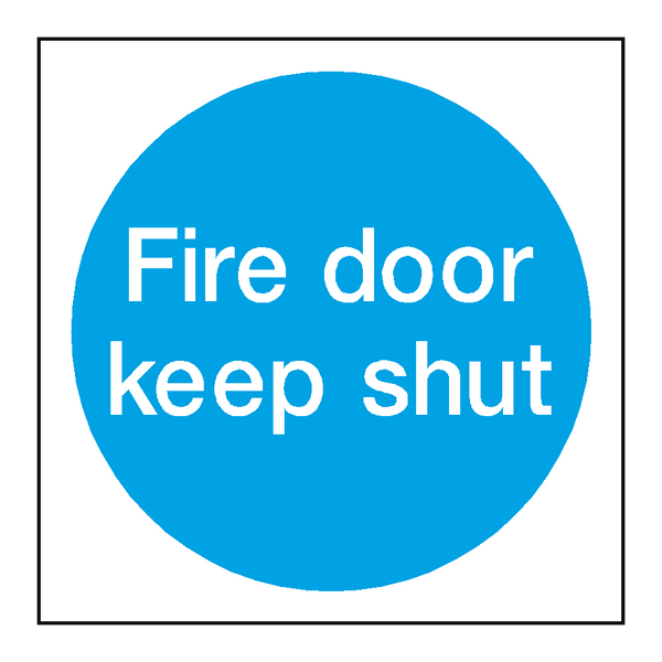 Fire Door Keep Shut Sign | PVCSafetySigns.co.uk