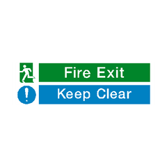 Fire Exit Keep Clear Safety Sign - PVC Safety Signs | Safety Signs Specialists