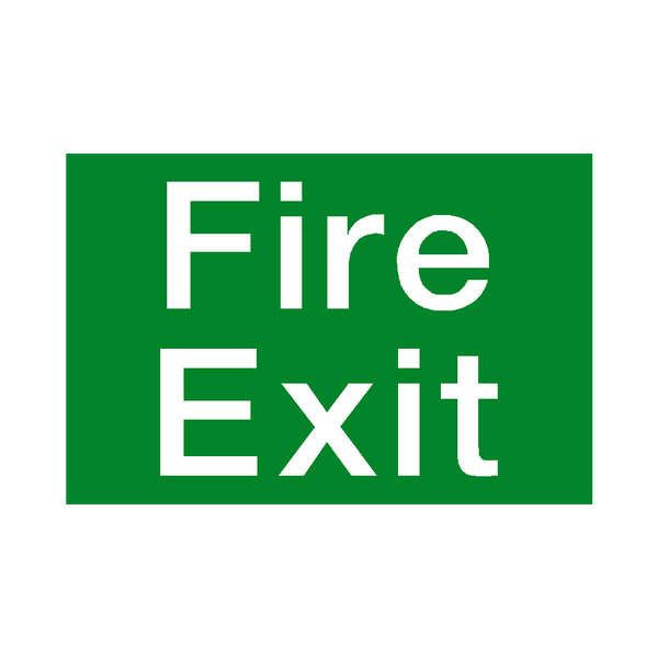 Fire Exit Sign | PVC Safety Signs