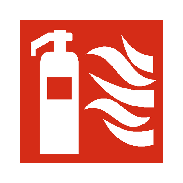 Fire Extinguisher Symbol Sign | PVCSafetySigns.co.uk