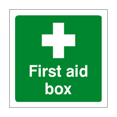 First Aid Box Sign | PVC Safety Signs | Health and Safety Signs
