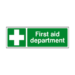 First Aid Department Sign | PVC Safety Signs | Health and Safety Signs