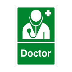 First Aid Doctor Sign | PVC Safety Signs | Health and Safety Signs