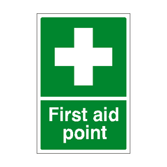 First Aid Point Sign | PVC Safety Signs | Health and Safety Signs
