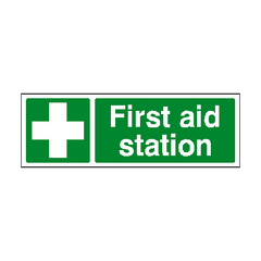 First Aid Station Sign | PVC Safety Signs | Health and Safety Signs