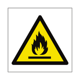 Flammable Materials Symbol Sign | PVCSafetySigns.co.uk