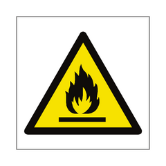 Flammable Materials Symbol Sign | PVC Safety Signs | Health and Safety Signs