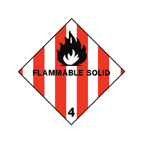Flammable Solids Sign | PVC Safety Signs